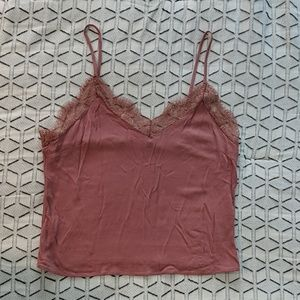 """Forever 21 Contemporary """"cropped"""" lace tank"""